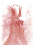 Marsala Ballgown 1 Prints by Beverly Dyer