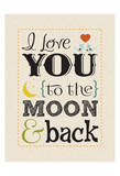 Moon & Back Posters by Melody Hogan