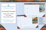 Thomas Kinkade Painter of Light  - 2016 16 Month Desk Blotter Calendars