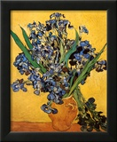 Vase of Irises Against a Yellow Background, c.1890 Prints by Vincent van Gogh