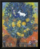 Otoño en la aldea Reproducción por Marc Chagall