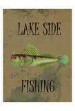 Lake Side Fishing Print by Sheldon Lewis