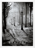 Les Escaliers de Montmartre, Paris Art by  Brassaï