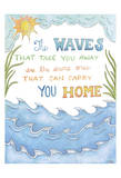 The Waves Prints by Pam Varacek