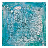 Aqua Scroll Poster by Pam Varacek