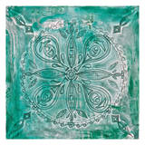 Teal Scroll Print by Pam Varacek