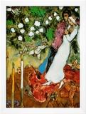 Tres velas Póster por Marc Chagall