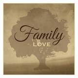 Family Love Prints by Melody Hogan