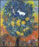Autumn in the Village Mounted Print by Marc Chagall
