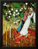 Tres velas Reproducción por Marc Chagall