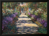 Garden at Giverny Art by Claude Monet