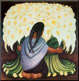 The Flower Seller, c.1942 Mounted Print by Diego Rivera