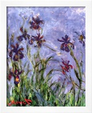 Irises (detail) Prints by Claude Monet