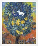 Otoño en la aldea Póster por Marc Chagall