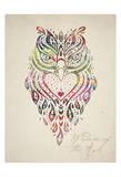 Owl Set 01 Poster van Melody Hogan