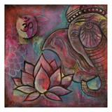 Ganesha Lotus Posters by Pam Varacek
