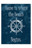 Home Is At The Beach Prints by Sheldon Lewis
