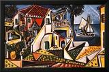 Paisaje mediterráneo Lámina por Pablo Picasso