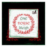 One Horse Sleigh Poster by Sheldon Lewis