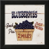 Blueberries Just Picked Art by David Carter Brown
