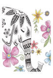 Tribal Elephant Portrait Posters by Pam Varacek