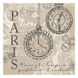Time For Paris 1 Prints by Nicole Tamarin