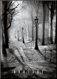 Les Escaliers de Montmartre, Paris Mounted Print by  Brassaï