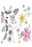 Tribal Giraffe Portrait Posters by Pam Varacek