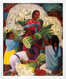 The Flower Vendor Art by Diego Rivera