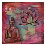 Buddha Lotus Print by Pam Varacek