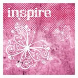 Pink Inspire Prints by Melody Hogan