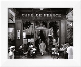 Café de France Posters by Willy Ronis