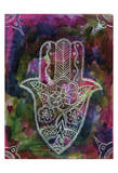 Radiant Hamsa 2 Posters by Pam Varacek