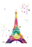 Eiffel watercolor Prints by  OnRei