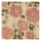 Vintage Floral Stripe Prints by Melody Hogan