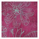 Pink Floral Art by Pam Varacek