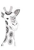 Lone Giraffe Prints by Pam Varacek