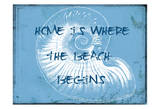 Home At The Beach Posters by Sheldon Lewis