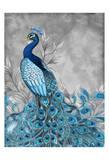 Peacock Botanical 1 Print by Nicole Tamarin