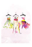 Dresses watercolor Print by  OnRei