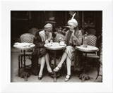 Women Sitting at a Cafe Terrace Prints