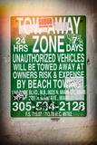 Miami Sign and Billboard - Miami Beach - Florida - USA Photographic Print by Philippe Hugonnard