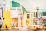 Instants of Series - Art Deco Architecture - Yellow Cab of Miami Beach - Florida - USA Photographic Print by Philippe Hugonnard