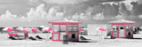 Pink Beach Houses - Miami Beach - Florida Photographic Print by Philippe Hugonnard