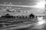 Fishing Pier Fort Myers Beach at Sunset - Florida Photographic Print by Philippe Hugonnard