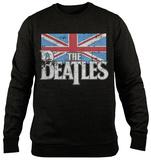 Crewneck Sweatshirt: The Beatles - Distressed British Flag - Tişört