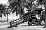 Life Guard Station - Miami - Florida Fotografisk tryk af Philippe Hugonnard