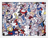 Family Life, August 10, c.1963 Print by Jean Dubuffet