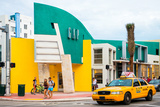 Art Deco Architecture - Yellow Cab of Miami Beach - Florida - USA Photographic Print by Philippe Hugonnard