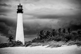 Key Biscayne Light House during a Tropical Storm - Miami - Florida Photographic Print by Philippe Hugonnard